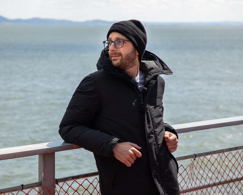 Michael on the Saint-Siméon Ferry