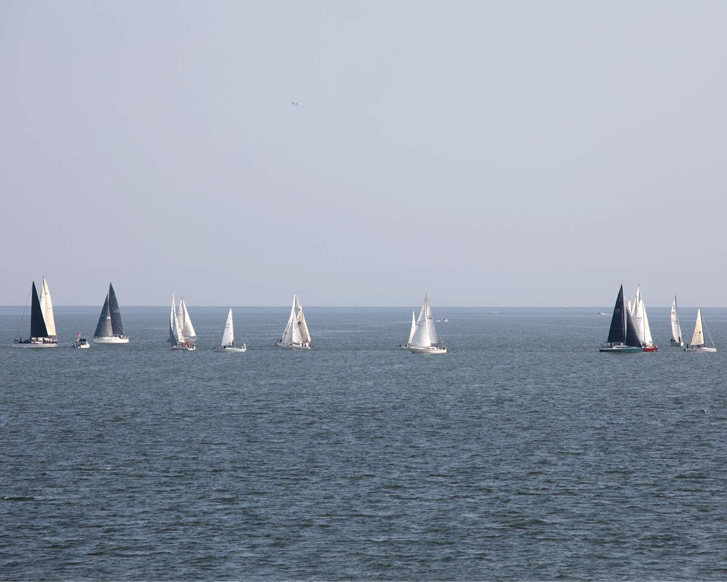 Sailboats on the Strait of Georgia in BC