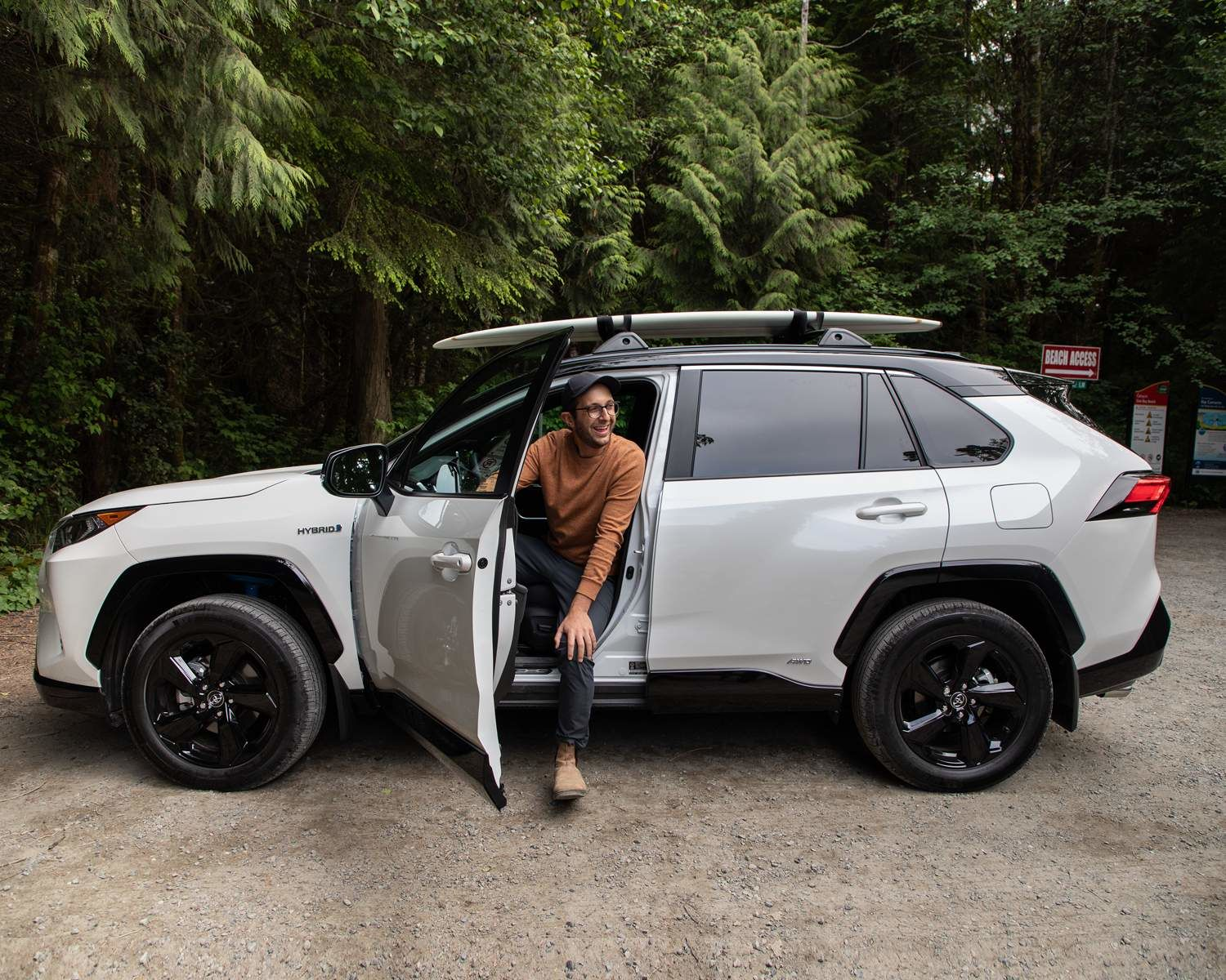 Michael in the RAV4 Hybrid XSE with Technology Package