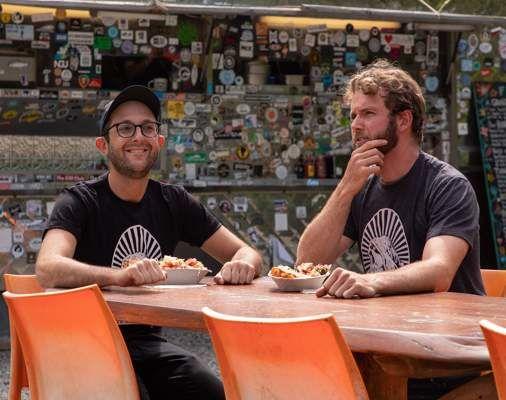 Kevin Mair at Tacofino food truck in Tofino, BC