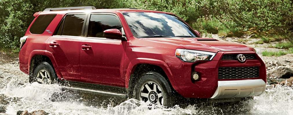 4Runner TRD Off Road Package shown in Barcelona Red Metallic