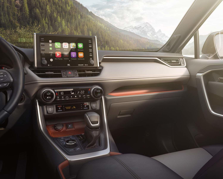 Écran du RAV4 avec Apple CarPlay