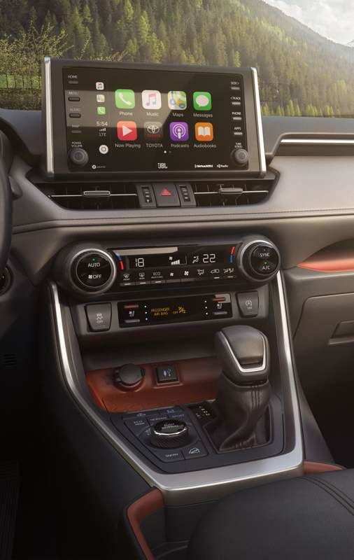 Écran du RAV4 avec Apple CarPlay