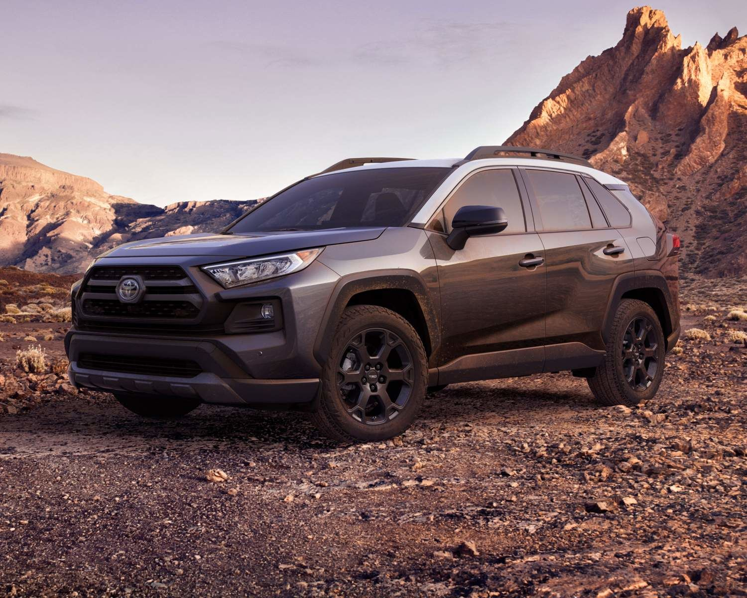 RAV4 Trail AWD TRD Off Road Package show in Magnetic Grey Metallic With Ice Edge Roof