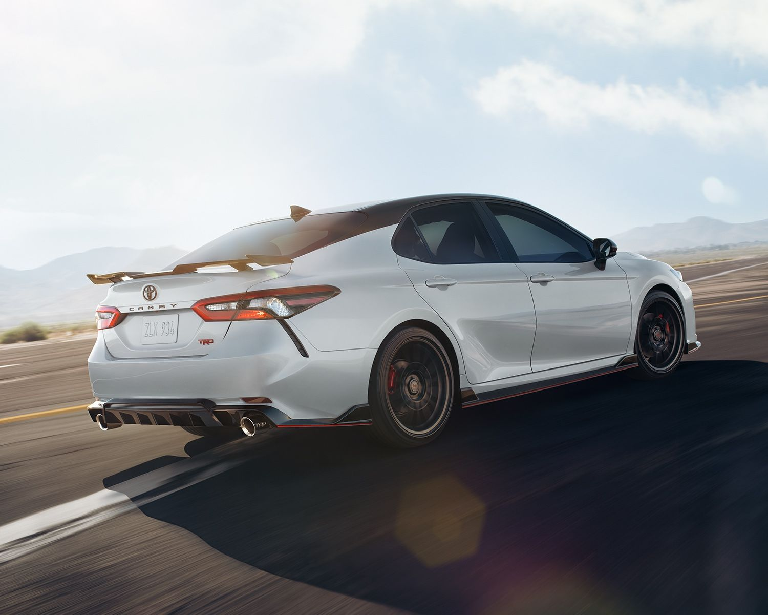 Camry XSE V6 TRD shown in Wind Chill With Black Roof