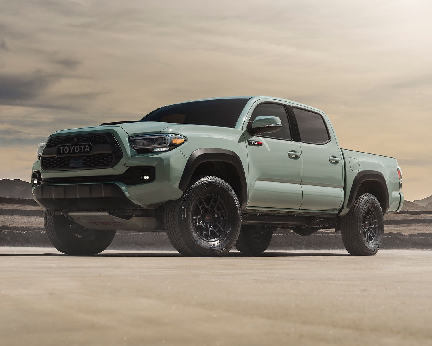 Tacoma TRD Pro shown in Lunar Rock