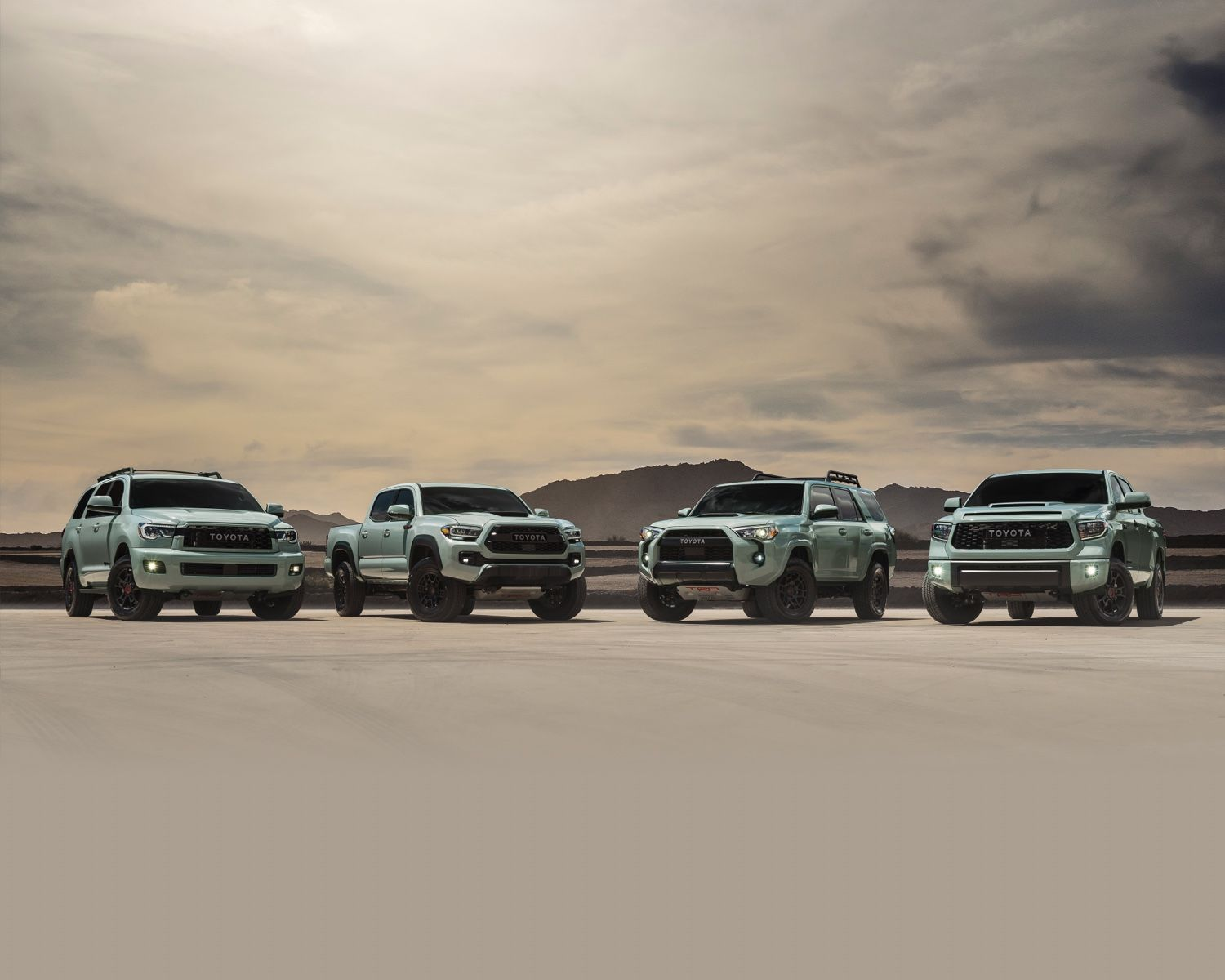2021 TRD Pro Family shown in Lunar Rock