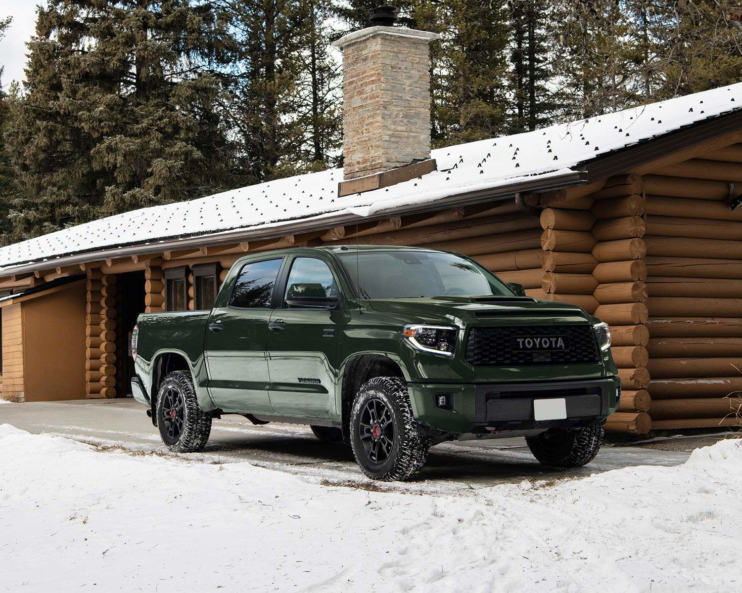 2020 Tundra 4x4 CrewMax TRD Pro shown in Army Green