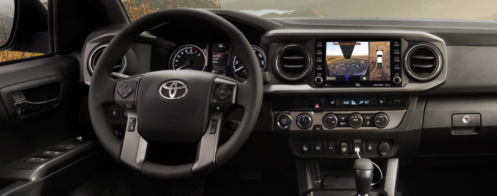 2020 Tacoma TRD Off-Road Interior shown in Black Leather