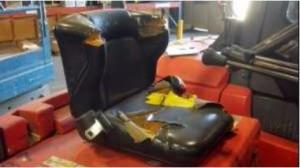 Worn Forklift Seat