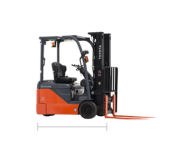 3 wheel electric forklift toyota forklifts 36 48 voltage