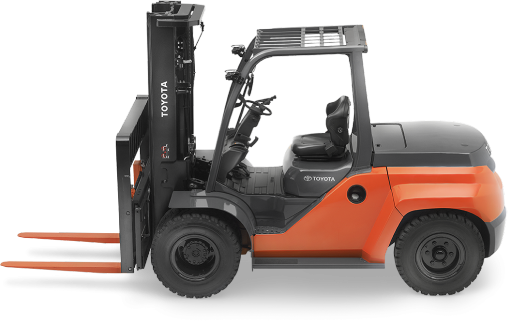 Large Ic Pneumatic Forklift All Terrain Outdoor Forklift Toyota