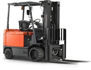 Forklift for Paper Rolls with Automatic Clamp Leveling
