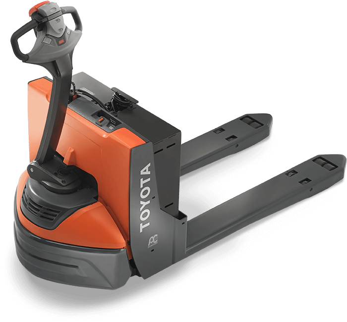 Electric Walkie Pallet Jack Walk Behind With Scale Toyota Forklifts