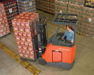 stand up rider, forklift, toyota