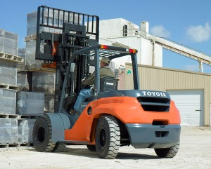 Toyota large outdoor forklift