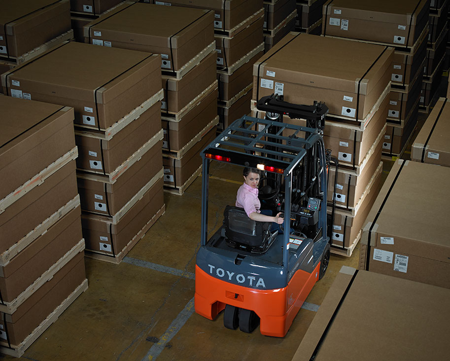 Electric powered forklift benefits in the warehouse toyota forklifts electric powered forklift benefits in the warehouse malvernweather Images