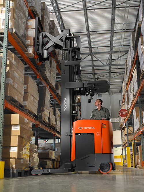 Narrow Aisle Forklifts: Do More with Less: | Toyota Forklifts