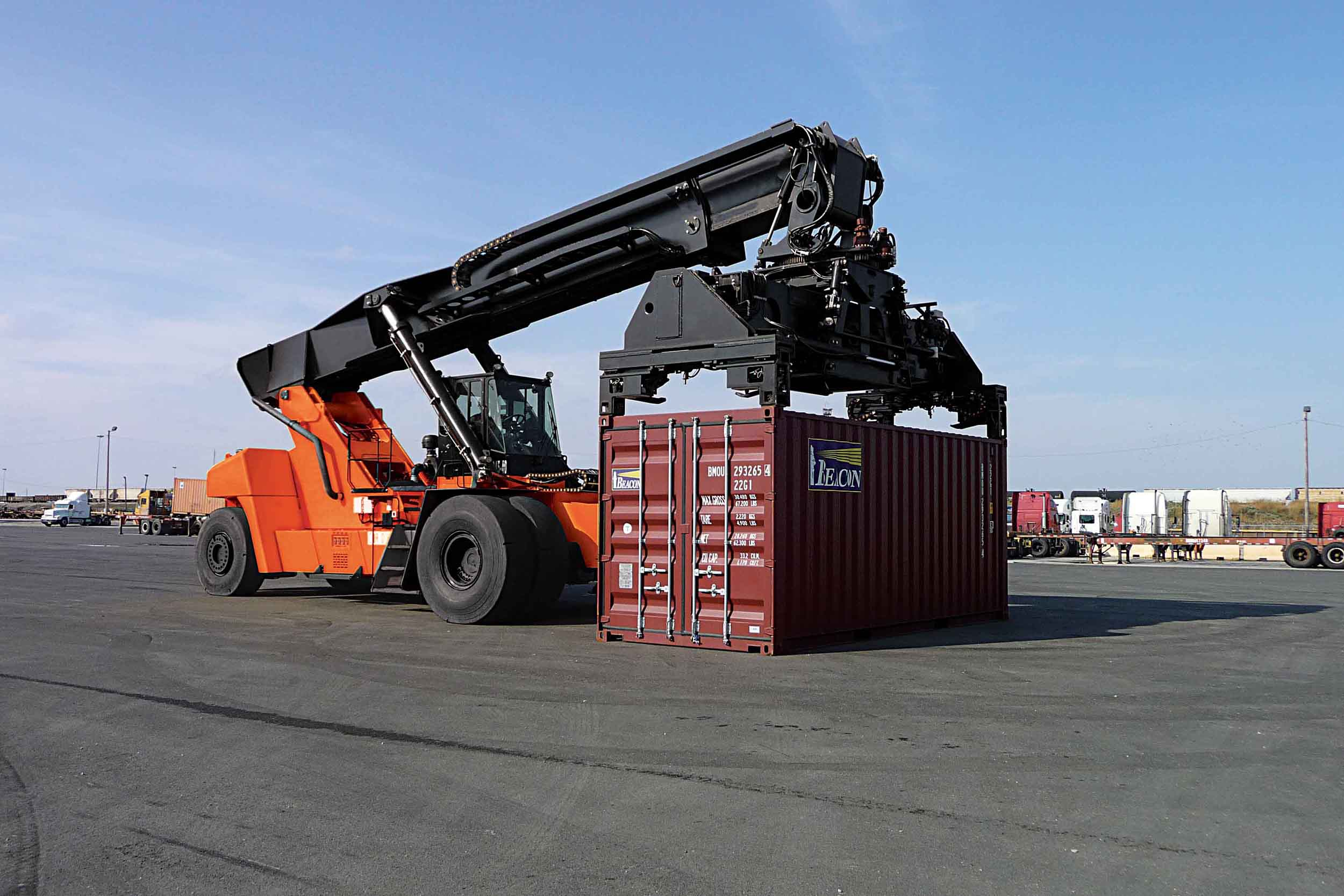 Reach Stacker Container Handler Toyota Forklifts