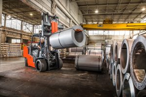 High Capacity Cushion Forklift Application Loaded