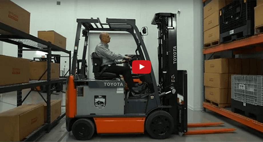 Warehouse Forklifts & Aisle Widths | Toyota Forklifts