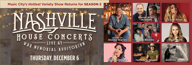 Nashville House Concerts - Thursday, December 6.