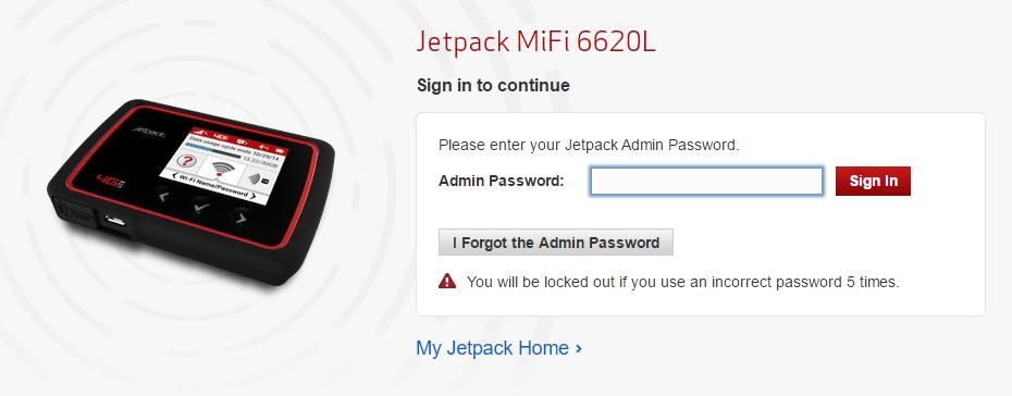 How do I log In to mobile hotspot admin portal?