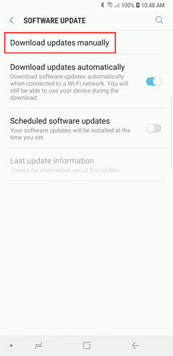 How do I update the OS on my Galaxy Note9?