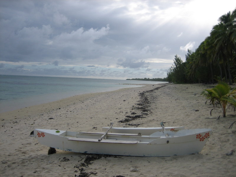 The beach on Aitutaki
