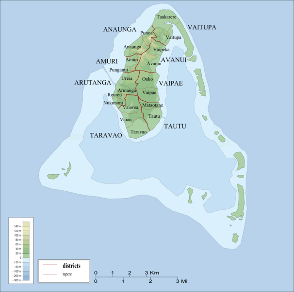 Districts and tapere of Aitutaki