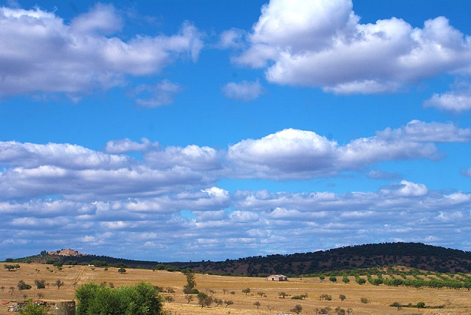 Landscape of Alentejo in Beja, Portugal