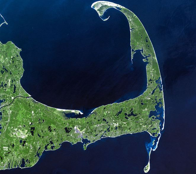 Cape Cod satellite view