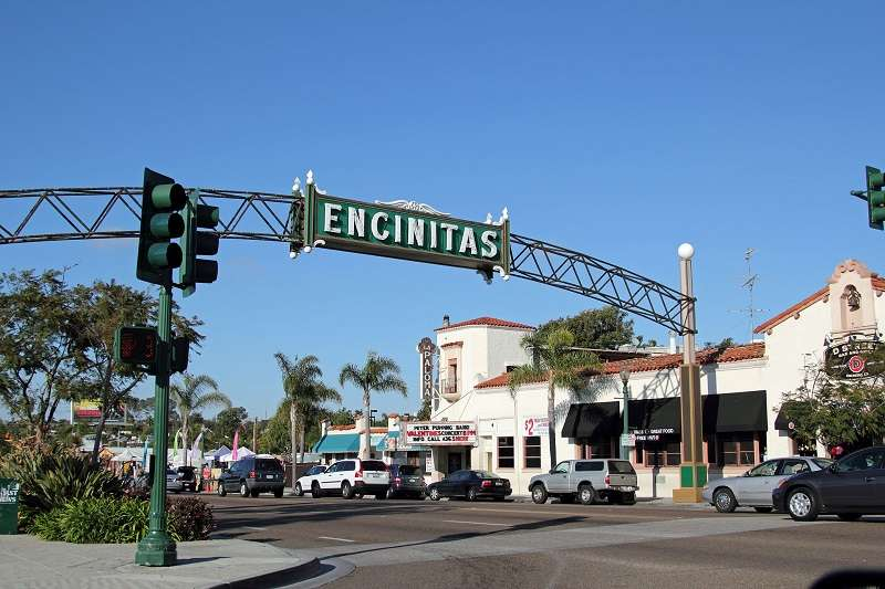 Encinitas California Downtown Welcome Arch