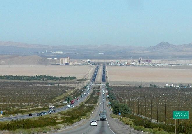 Interstate 15 going to Las Vegas