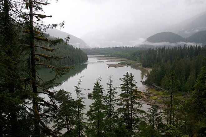 Kitlope Lake in Kitlope Wilderness Conservancy