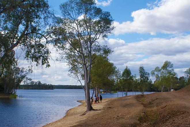 lake in Mina de São Domingos, Beja