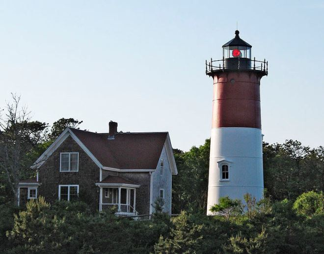 Nauset Light and lightkeeper's house