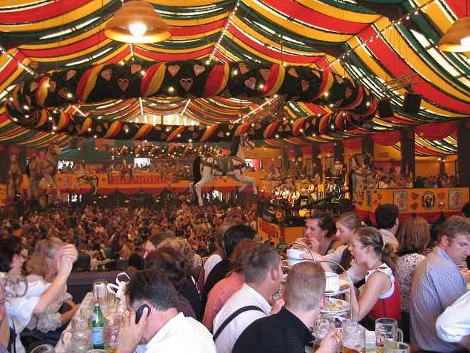 Oktoberfest inside Hippodrom tent