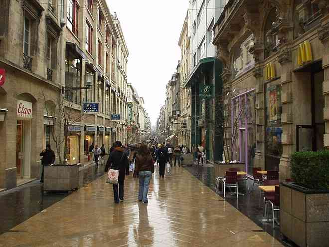 Rue Sainte Catherine Bordeaux France
