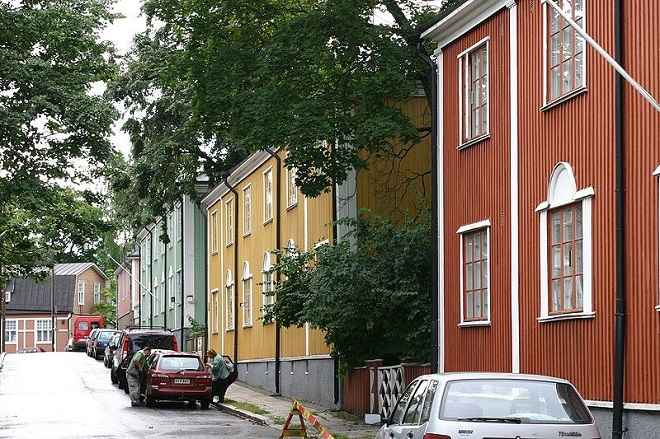 Wooden Vallila houses