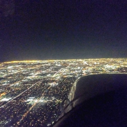 Heading west toward klgb