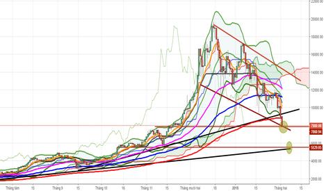 BTCUSD: Bitcoin Daily: Giá test mốc 8000, tiếp theo là 5500-6000?