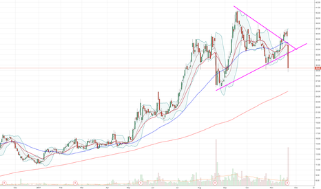 BZUN: Broke out of symmetrical triangle to the downside
