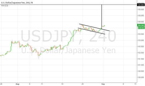 USDJPY: USD-JPY flag target 105.889