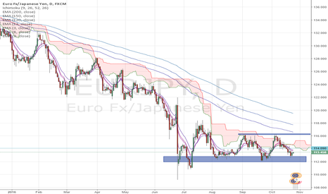 EURJPY: EJ long on daily support 116 target