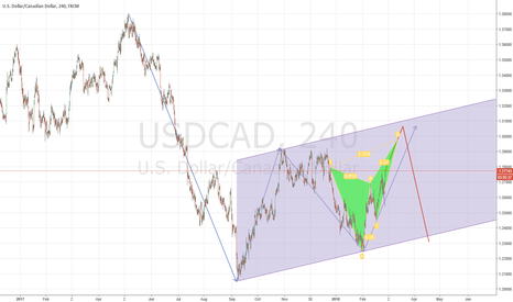 USDCAD: USD/CAD Wave and Harmonic Pattern