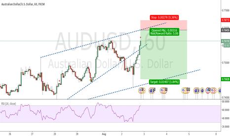 AUDUSD: Rising Wedge Pattern. SHORT