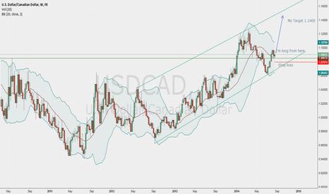 USDCAD: Long USD/CAD Target 1.1400