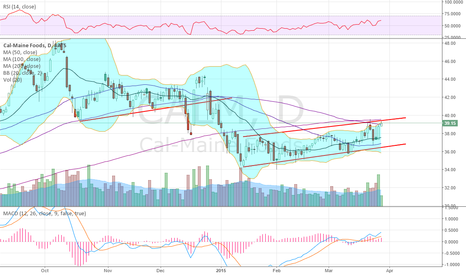 CALM: been gliding lower with long bear flags,