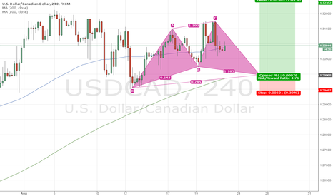 USDCAD: Cypher pattern for long USDCAD